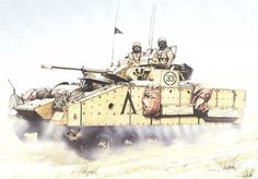 VF510 Warrior, 1er. Batallón, Regimiento Staffordshire, sur de Irak, operación 'Desert Sabre', Febrero de 1991. Pin by Paolo Marzioli