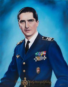 vitéz nagybányai Horthy István repülő főhadnagy 40x50 cm. oil painting