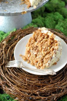 Hummingbird Cake - a mix between banana bread & carrot cake. Great name. Sounds like a lot of work, but I'm excited to try it.