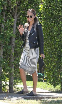 Obsessed with Jamie Chung's easy spring pairing.