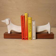 Ceramic Dachshund Bookends: Remodelista