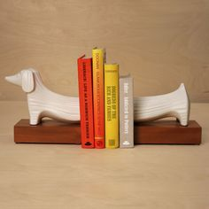 Ceramic Dachshund Bookends: Remodelista