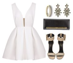"""""""Engagement Party"""" by beatifuletopshop ❤ liked on Polyvore featuring moda, Yves Saint Laurent y Oscar de la Renta"""