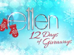Not only does the Ellen app offer a fun, behind-the-scenes look at the show, but this week you can also enter for a chance to win a trip to one of Ellen's 12 Days of Giveaways shows! Download the Ellen app and sync with the show, now!
