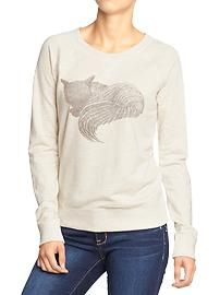 Women's Animal-Graphic Crew Sweatshirts