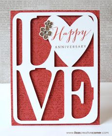 "Lisa's Creative Corner: CTMH Artfully Sent/Heartstrings ""Love Card"" Wedding Cards Keepsake, Wedding Anniversary Cards, Cricut Anniversary Card, Homemade Anniversary Cards, Origami, Silhouette Cameo, Artfully Sent, Scrapbooking, Cricut Cards"