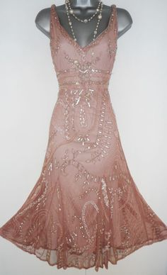 Principles Pink Embellished Deco Gatsby Flapper Charleston Evening Dress Size 14 | Clothes, Shoes & Accessories, Women's Clothing, Dresses | eBay!