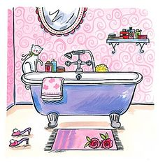 Sophie Harding - Home Sweet Home IV...what girly girl does't love a good soak in a bath with bath salts and good smelling scents!