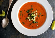 Tomatillo, Tomato and Avocado Gazpacho Recipe - NYT Cooking