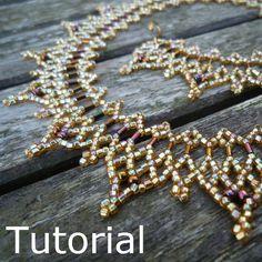 Daggers Necklace Beadwork Pattern/Tutorial - Instant Download