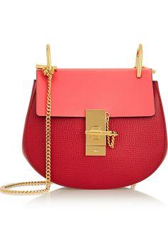 Chloé|Drew mini textured-leather shoulder bag|NET-A-PORTER.COM