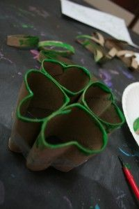 St Patrick's Day Toddler Craft - take the extra leaf and squwish it into a stem. St Patrick used a shamrock; four leaf clovers are an inaccurate symbol of St Patrick's day.