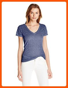 Threads 4 Thought Women's Vintage Wash Short Sleeve Tee, Navy, Large - All about women (*Amazon Partner-Link)