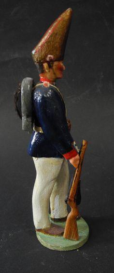 "antiker Holzsoldat geschnitzt bemalt "" Preussen Garde Grenadier "" um 1910   eBay"