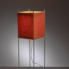 George Nelson Red Kite Table or Floor Lamp, USA, 1970s