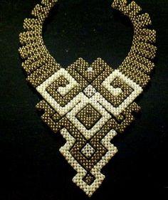 Seed Bead Bracelets, Seed Bead Jewelry, Bead Jewellery, Tambour Beading, Loom Beading, Bead Loom Patterns, Beading Patterns, Beaded Jewelry Designs, Diy Necklace