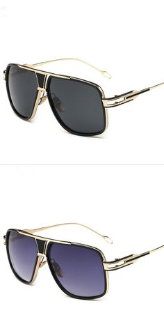 3da0c262b61 Men s Sun Glasses Brand Designer Male Driving Oversized 18K Gold  sunglasses  Women Shades Male Lunette