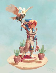"""Link from a made up game called """"The Legend of Zelda: The Portal Sands"""" for the Character Design Challenge."""