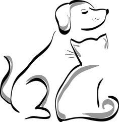 Free Image on Pixabay - Dog, Cat, Animal, Pet, Cute - Dogs 🐶 Tattoo Gato, Kitty Tattoos, Dog Tattoos, Tattoos Skull, Lion Tattoo, Animal Tattoos, Sleeve Tattoos, Cat Drawing, Line Drawing