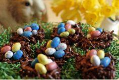 No-Bake Easter Egg Bird's Nests