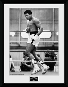 Muhammad Ali - Training - Big Framed Collector Print. 25mm Moulding. Shatter Proof Styrene. Official Merchandise. FREE SHIPPING