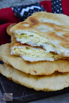 Romanian Food, Tasty, Yummy Food, Sweet Pastries, Pastry And Bakery, Street Food, Food And Drink, Bread, Ethnic Recipes