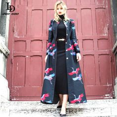Elegant Autumn/Winter Vintage Long Dust Coat Print A-Line Long Sleeve Slim Coat $112.85   => Save up to 60% and Free Shipping => Order Now! #fashion #woman #shop #diy  http://www.clothesdeals.net/product/elegant-autumnwinter-2016-new-fashion-vintage-long-dust-coat-print-a-line-long-sleeve-slim-coat-for-women-maxi-size-s-3xl