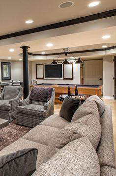 43 Billiard Room Design Ideas | Sebring Design Build Billiard Pool Table, Billiard Room, Antique Pool Tables, Pool Table Room, Game Room Basement, Pool Table Lighting, Basement Remodeling, Traditional Design, Family Room