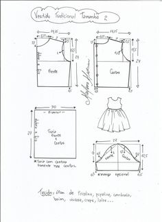 Baby Dress Sewing Pattern Tutorials 18 Ideas For 2019 Kids Dress Patterns, Kids Clothes Patterns, Baby Patterns, Clothing Patterns, Sewing For Kids, Baby Sewing, Toddler Dress, Kids Outfits, Kids Fashion