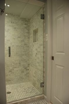 The Basket Weave Marble Tile And Marble Subway Tile Are Both From Lowes