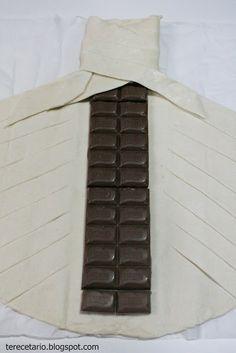 TRENZA DE HOJALDRE CON CHOCOLATE