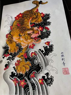 I sincerely adore the colors, outlines, and fine detail. This is definitely a superb choice if you would like a Tattoo Japanese Style, Japanese Tiger Tattoo, Japanese Dragon Tattoos, Japanese Tattoo Designs, Japanese Sleeve Tattoos, Traditional Tiger Tattoo, Traditional Japanese Tattoos, Dragon Tattoo Back Piece, Dragon Sleeve Tattoos
