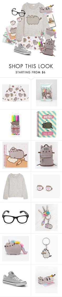 """BACK TO SCHOOL PUSHEEN!!!"" by citykitty1234 ❤ liked on Polyvore featuring Pusheen, Chloé, Converse, contestentry and PVxPusheen"