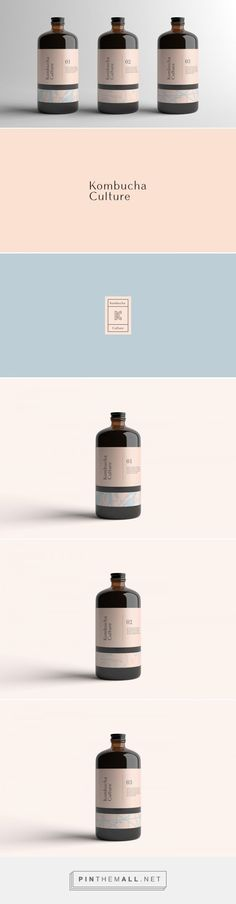 Kombucha Culture Tea Packaging by Kati Forner | Fivestar Branding Agency – Design and Branding Agency & Curated Inspiration Gallery