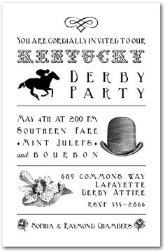 Kentucky Derby Billboard Party Invitations from TheInvitationShop.com