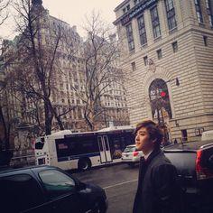 In NYC <3 #Kevin #UKiss #UltimateUkissBias #Cute #Cutie #Kpop
