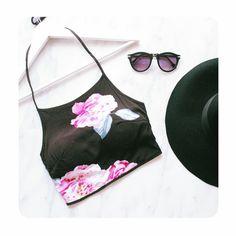 www.brooklime.ca #croptop #floral #brooklimeboutique #mtlblog #mtl #canadafashion #summer