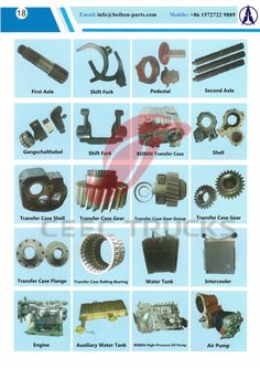 Truck Parts catalogue Beiben trucks accessories catalogue SECTION 3