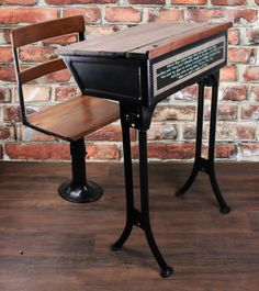 Antique School Desk Only  Reserved for Jae by Reclaimery on Etsy