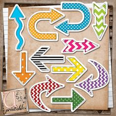 U printables by RebeccaB - all sorts of shapes & tags for crafting or smash books