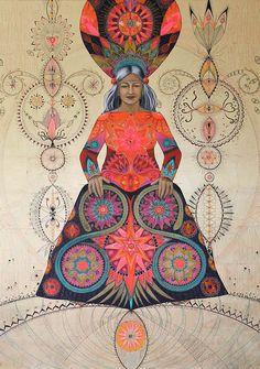 A gypsy 'Drabarni' is a shaman, medicine woman shape shifter, wise woman, magick… Wicca, Magick, Shaman Woman, Art Visionnaire, Sacred Feminine, Goddess Art, Visionary Art, Sacred Art, Psychedelic Art