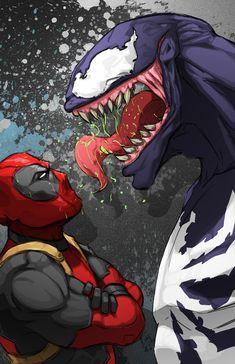 #Deadpool #Fan #Art. (Deadpool vs Venom) By: Xashe. [THANK U 4 PINNING!!]