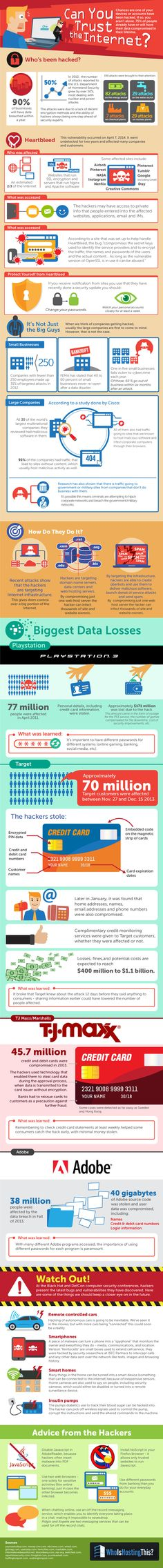 Can You Trust the #Internet - #Infographic #technology