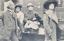 Still from the 1911 silent film The Norwood Necklace. The film is lost.