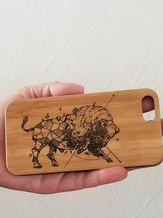 Geometric Bull bamboo wood iPhone case for iPhone 6 iPhone