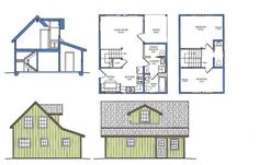 Alaska Cabin Plans, Alaska House, Small House Plans micro-homes-and-what-s-inside Small House Plans Free, House Plan With Loft, Small House Floor Plans, Tiny House Plans, The Plan, How To Plan, House Design Photos, Tiny House Design, Purple Martin House Plans