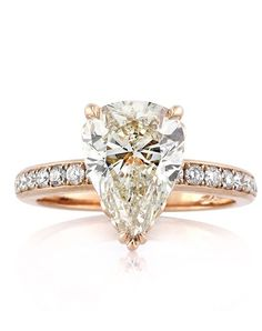 3.52ct Pear Shaped Diamond Engagement Ring