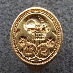 Metal detecting find- a gold Tudor-era signet ring.
