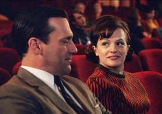 Don and Peggy -- season 5 finale of Mad Men