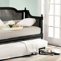 I want this is white for our guest bedroom in the basement. Louis Daybeds